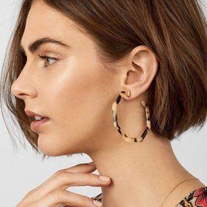 Dark Brown Geometric Hoop Earrings